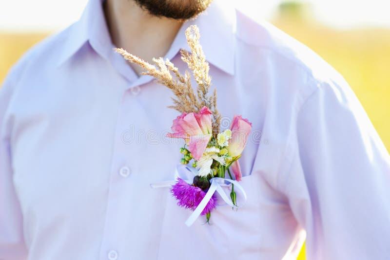 Sposo di Boutonniere immagini stock libere da diritti