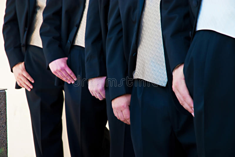 Sposo e Groomsmen fotografie stock