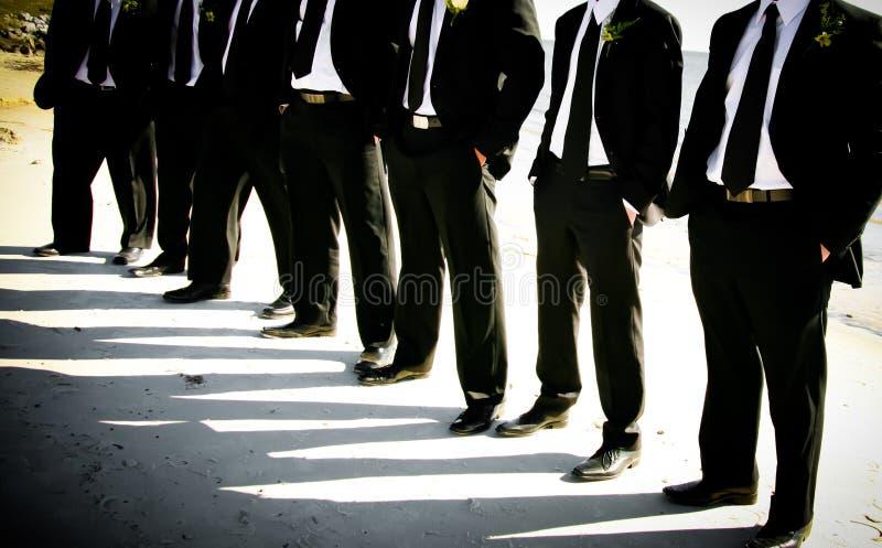 Sposo e Groomsmen fotografia stock