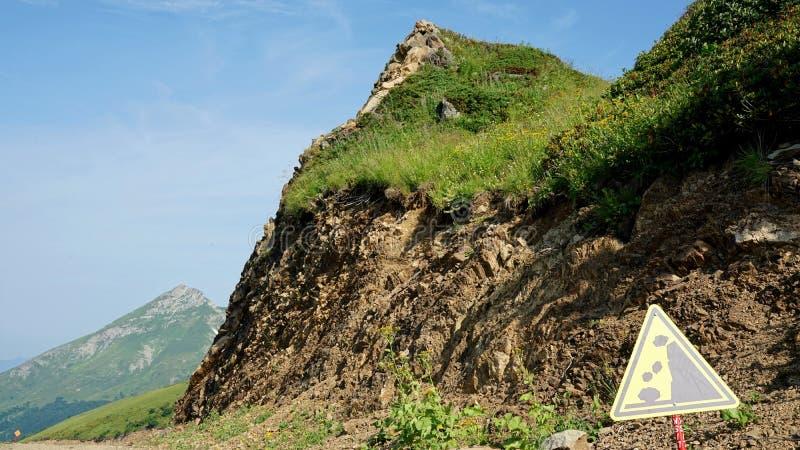 Sposobem szczyt Czarna filar góra, Krasnaya Polyana obrazy stock