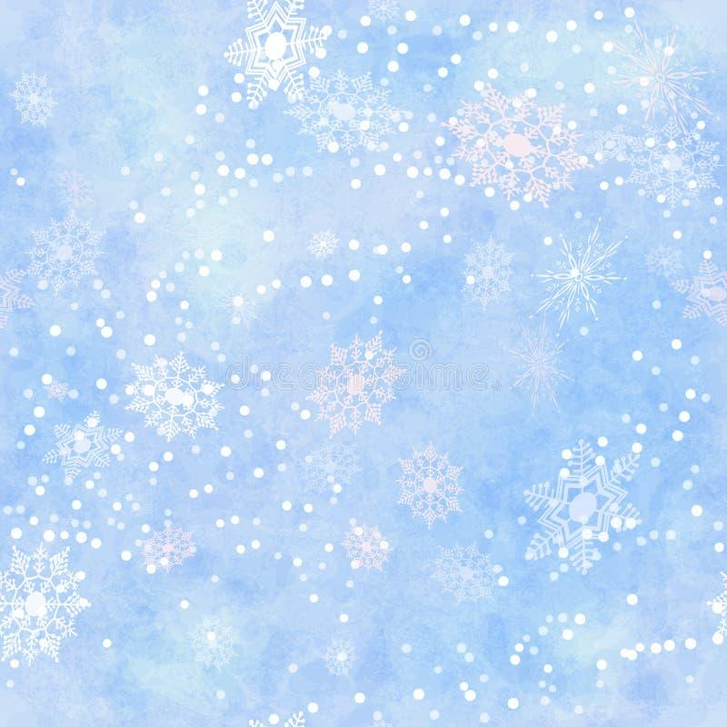 Spostamento del modello senza cuciture del fiocco di neve di carta d'annata illustrazione di stock