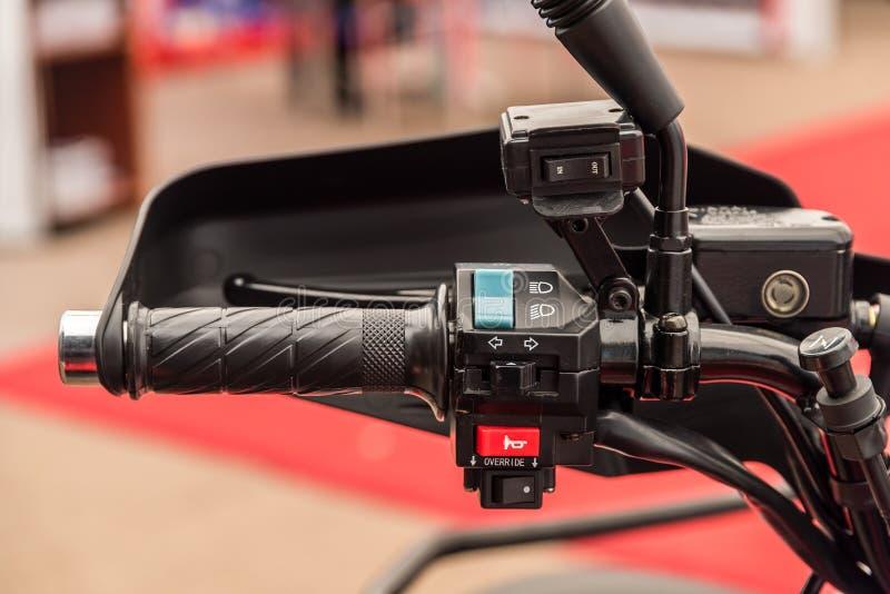 Spostamento della leva del cambio di ATV fotografia stock libera da diritti