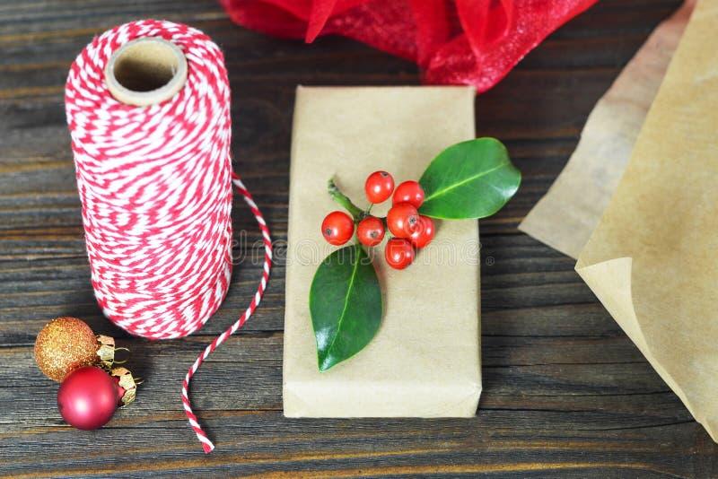 Spostamento di regalo di Natale fotografia stock