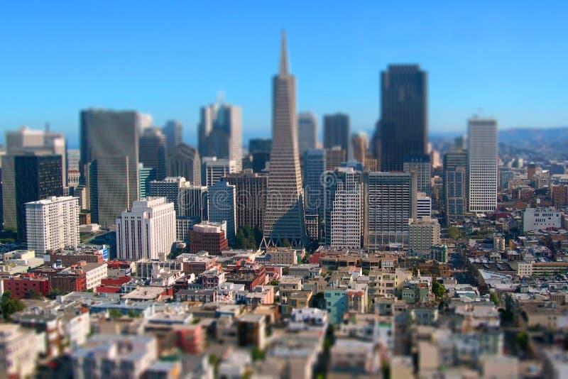 Spostamento di San Francisco City Downtown California Tilt immagine stock libera da diritti