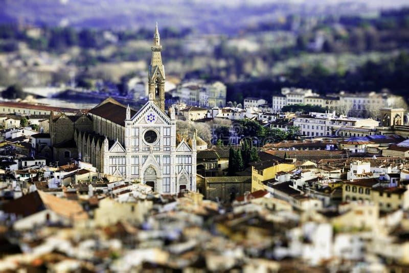 Spostamento Firenze di inclinazione fotografia stock