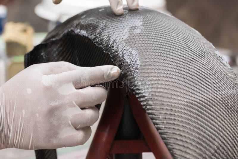 Spostamento la fibra o del Kevlar del carbonio fotografia stock libera da diritti