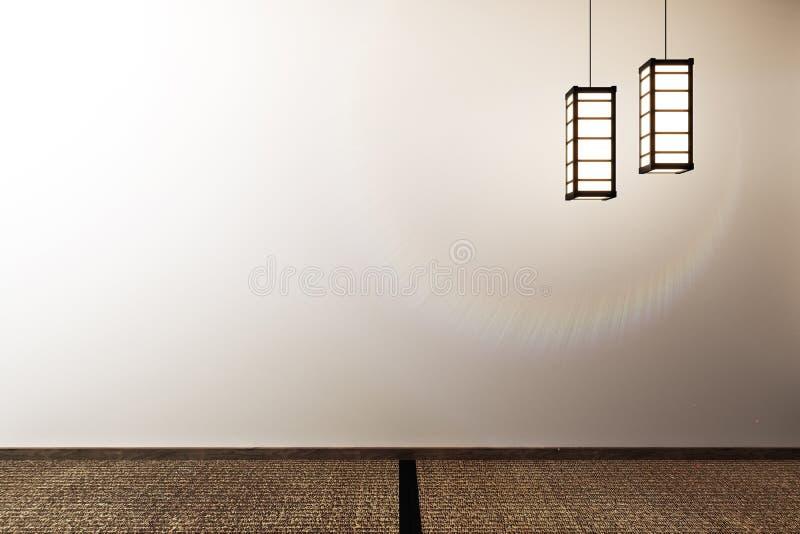 Spot die omhoog specifiek in Japanse stijl, lege ruimte wordt ontworpen het 3d teruggeven royalty-vrije illustratie