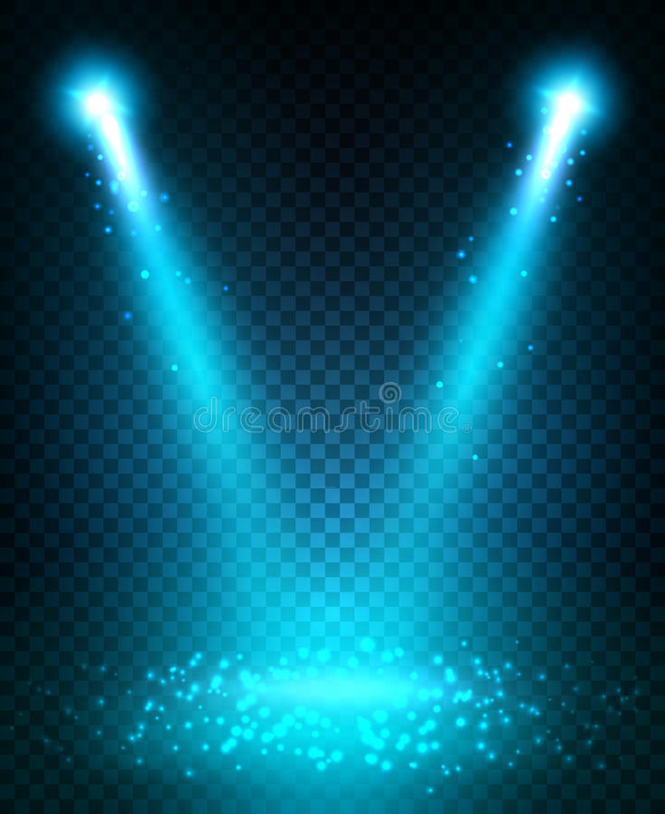 Free Spot Light Beams Projection On Floor Stock Images - 79720274