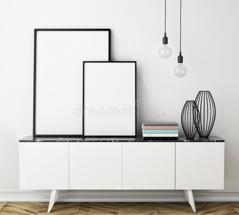 Spot op affichekader vector illustratie