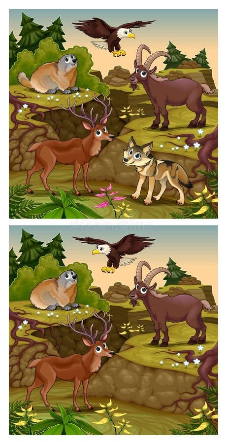 Spot skillnaderna stock illustrationer