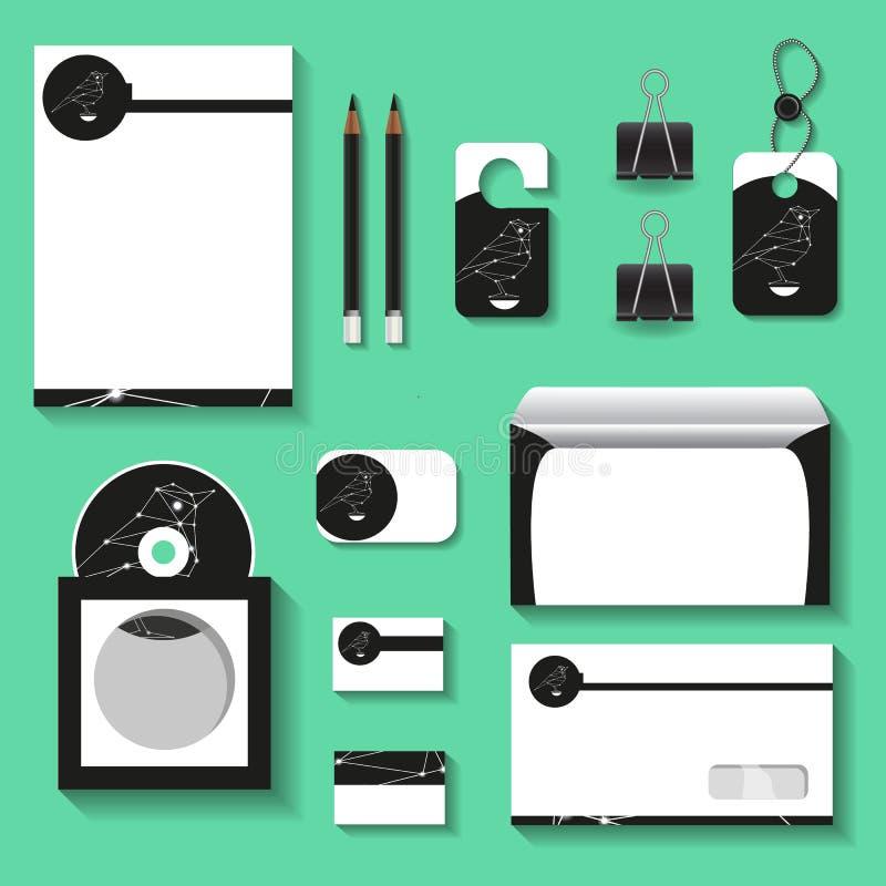 Spot upstemplates voor zaken met stervogel logotype voor uw ontwerpprojecten vector illustratie