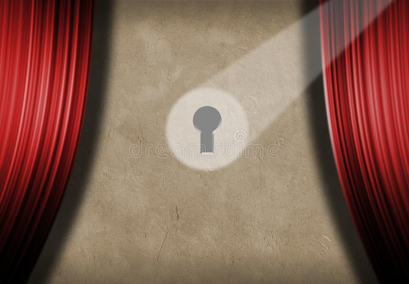Spoted keyhole ilustracja wektor