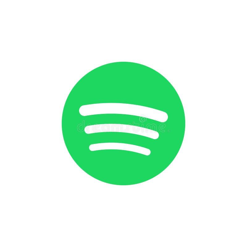 Spotify coloriu o ícone Elemento do ícone social da ilustração dos logotipos dos meios Os sinais e os símbolos podem ser usados p ilustração do vetor