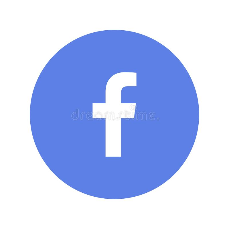 Facebook logo printed on paper. Spotify music streaming service icon on paper stock illustration