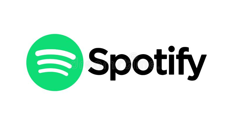 Spotify icon printed on paper. Spotify music streaming service icon on paper vector illustration