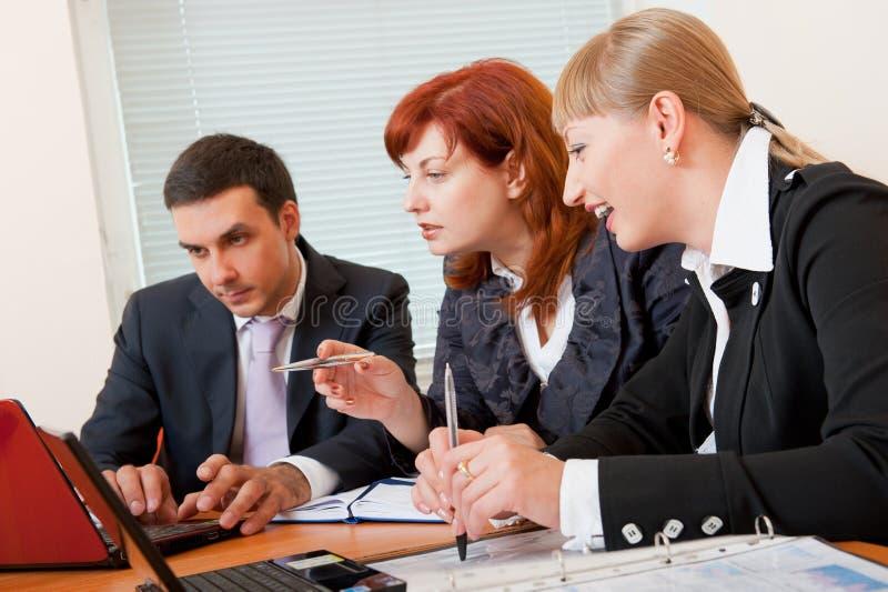spotkań biznesowi ludzie trzy obraz royalty free