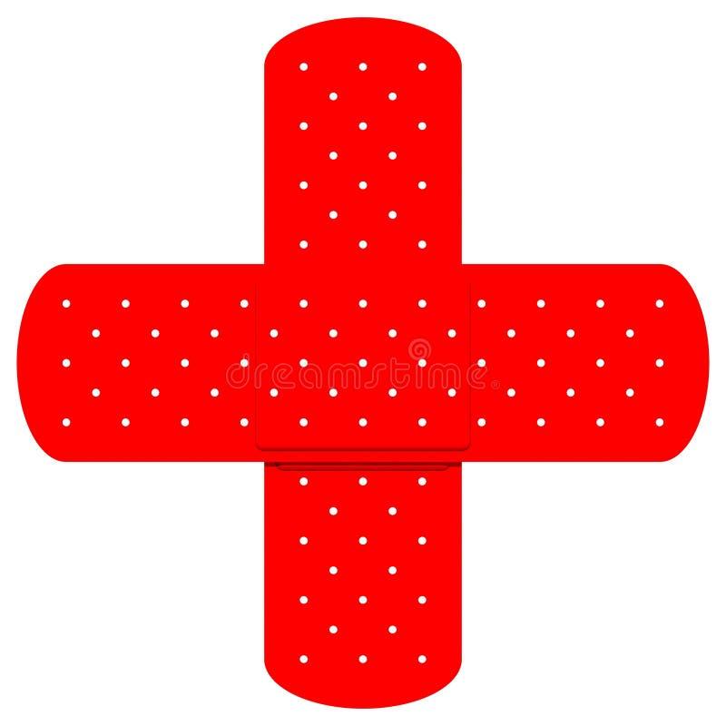 spotkamy bandaids czerwone. royalty ilustracja