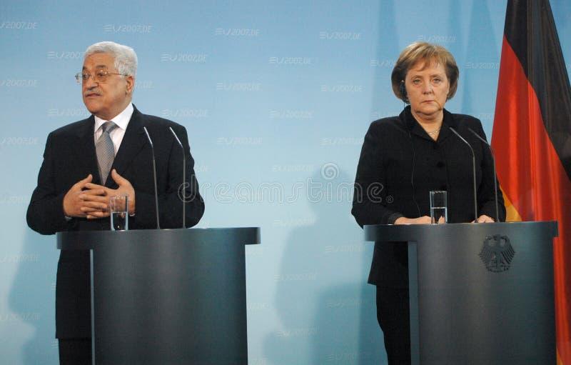 Spotkanie Abbas Merkel 2007 fotografia stock