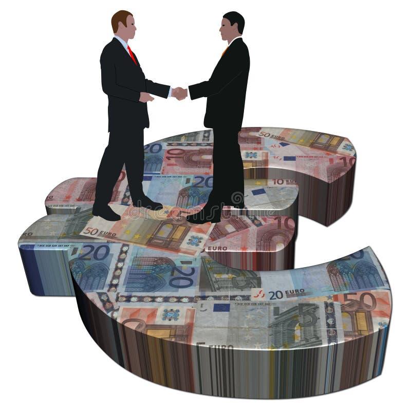 spotkanie euro symbol ilustracja wektor
