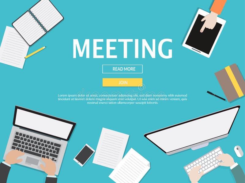 Spotkanie Graficzna ilustracja Dla Biznesowego pojęcia ilustracji