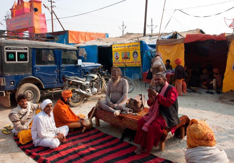 Spotkanie hinduscy gurus zdjęcie royalty free