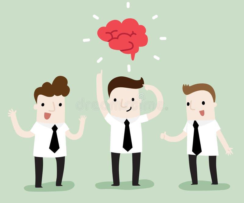 Spotkanie i brainstorming ilustracji