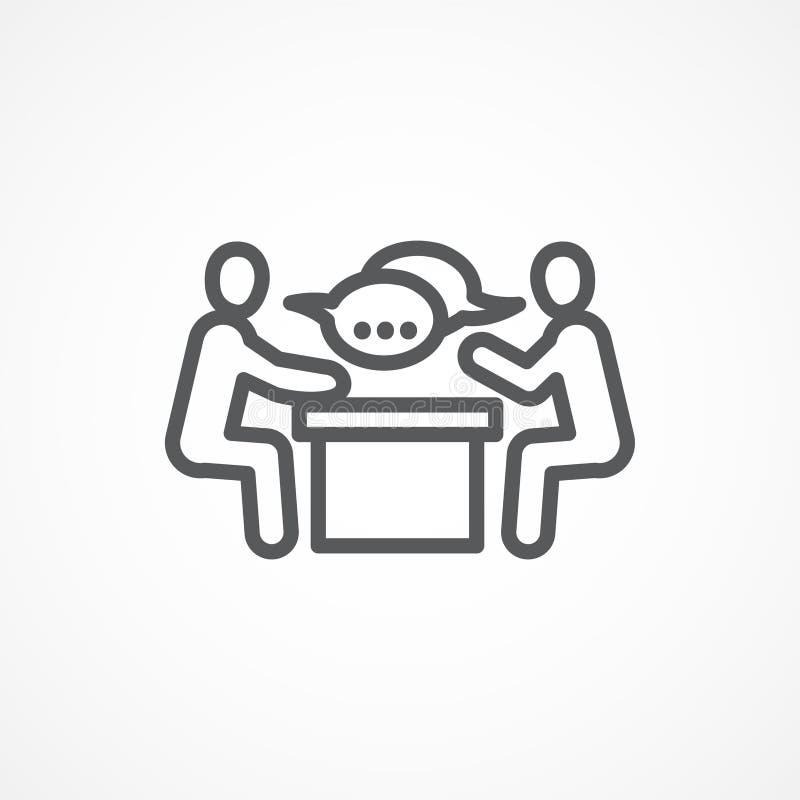 Spotkanie ikona ilustracji