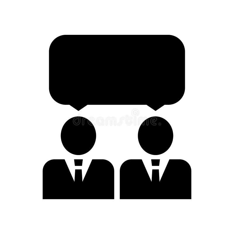 Spotkanie ikony projekta szablonu wektoru odosobniona ilustracja Ikony konferencja Ludzkiej interakci ikona r?wnie? zwr?ci? corel zdjęcia stock