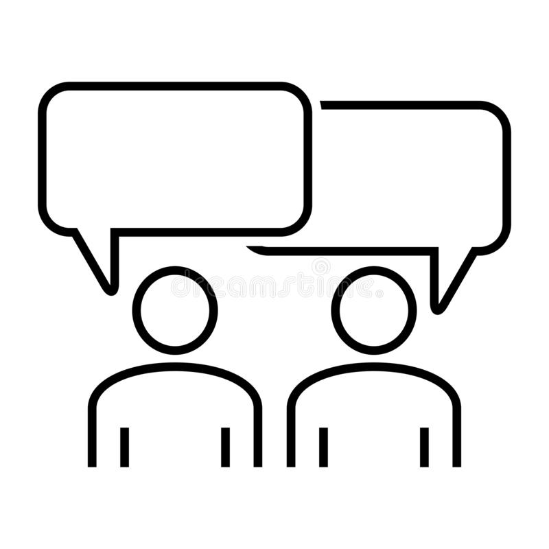 Spotkanie ikony projekta szablonu wektoru odosobniona ilustracja Ikony konferencja Ludzkiej interakci ikona r?wnie? zwr?ci? corel obrazy stock