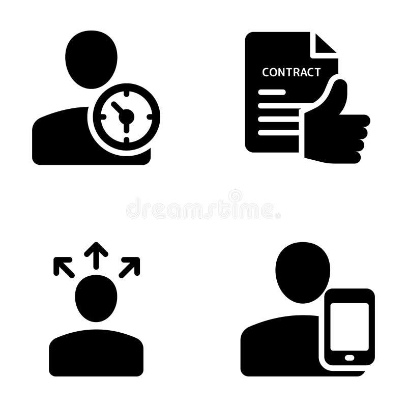 Spotkanie, miejsce pracy, komunikacji biznesowej bryły wektory ilustracji