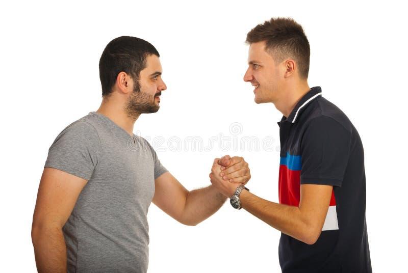 Spotkanie przyjaciół faceci obraz stock