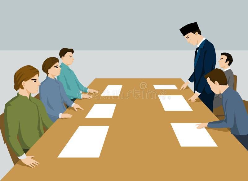 Spotkanie rozwiązywać problem royalty ilustracja