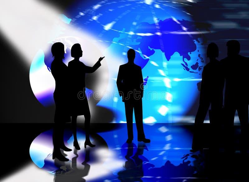 spotkanie w interesach zespół ludzi ilustracji