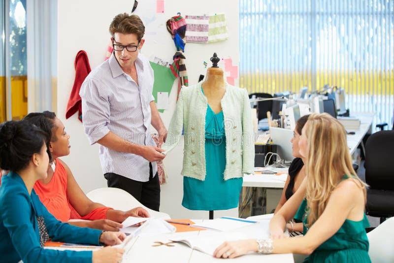 Spotkanie W moda projekta studiu zdjęcia stock