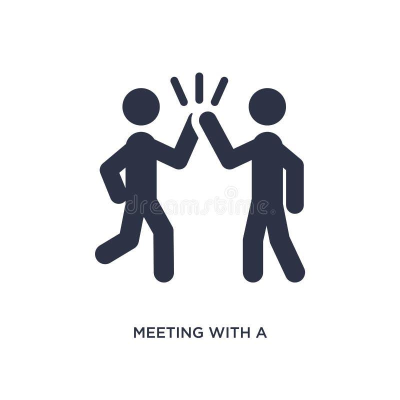 spotkanie z przyjaciel ikoną na białym tle Prosta element ilustracja od aktywności i hobby pojęcia ilustracji