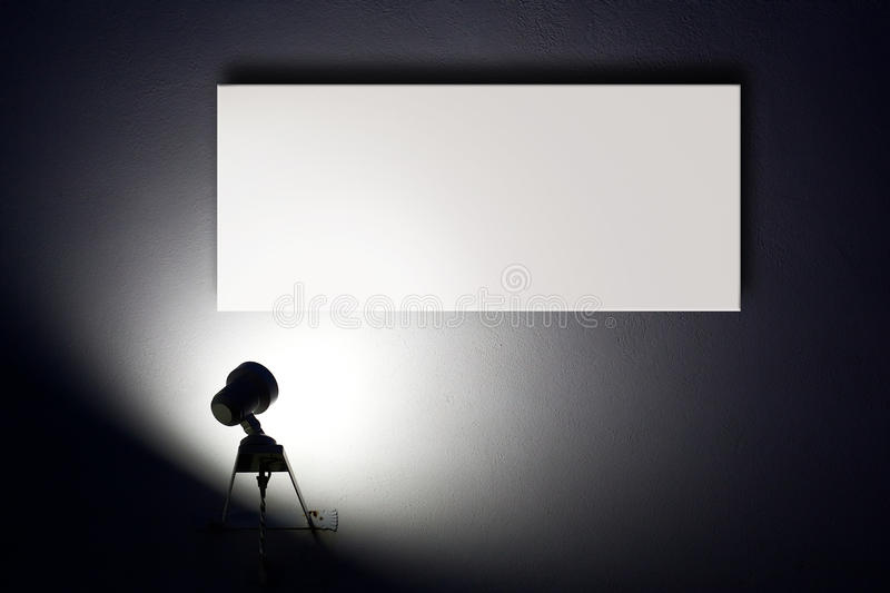 The spotlight stock image