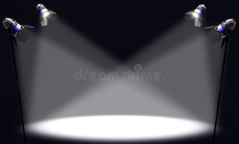 Spotlight royalty free illustration