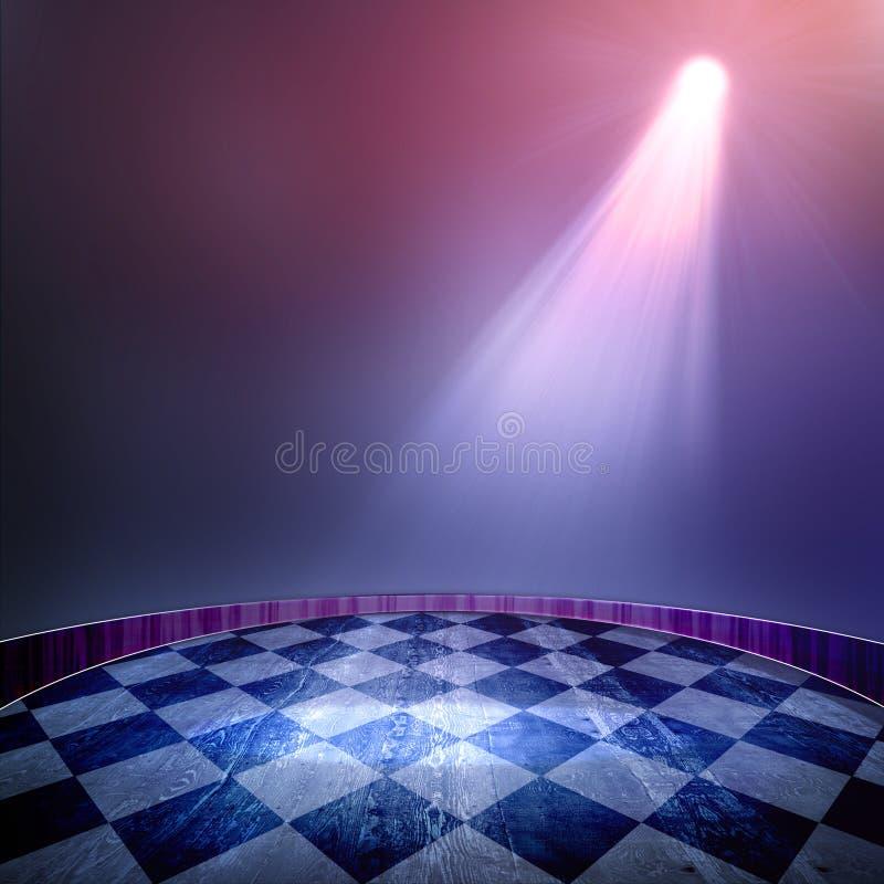 Spotlight background royalty free illustration