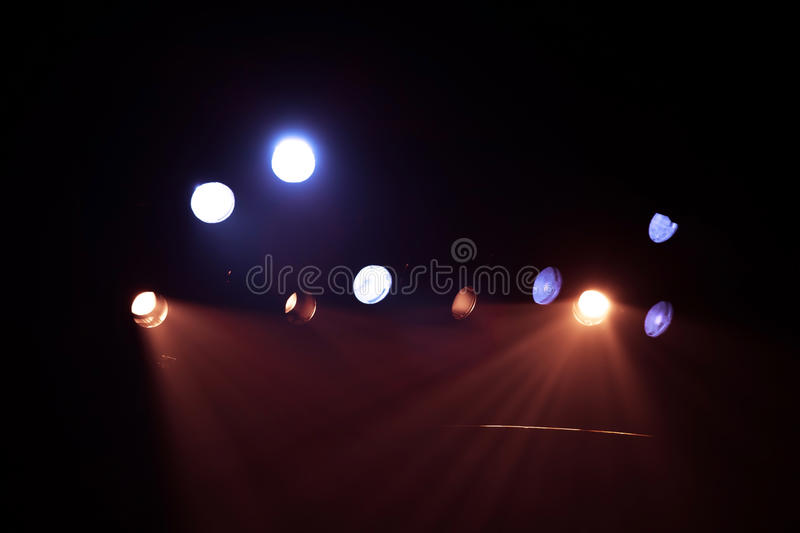 Spotlight background. In the cinema stock photography