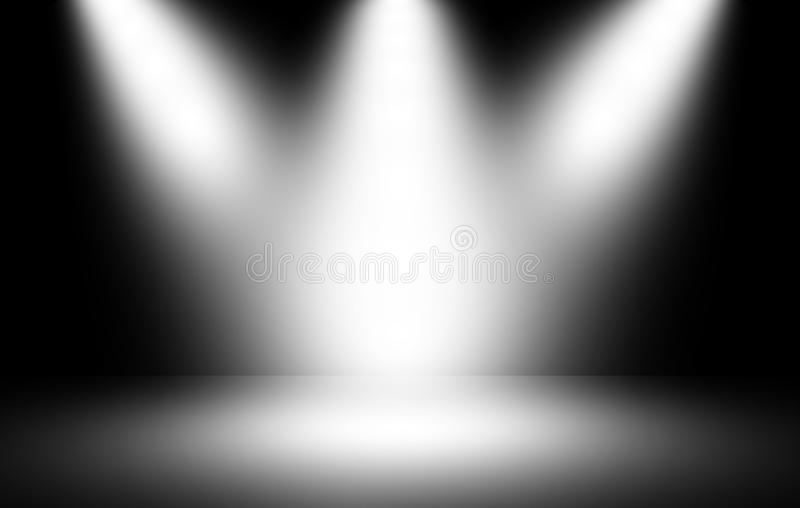 Spotlight background. Stage spotlight on dark background stock images