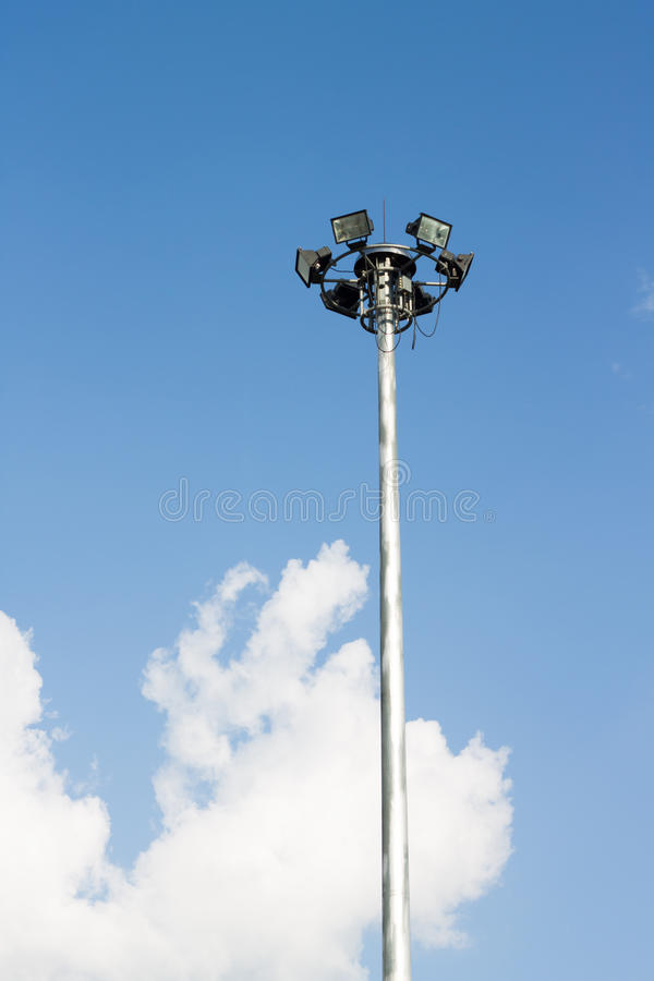 Spotlight and Blue Sky royalty free stock images