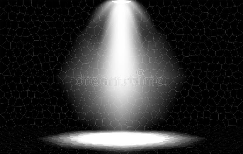 Download Spotlight Brick Wall Stock Illustration Of Banner