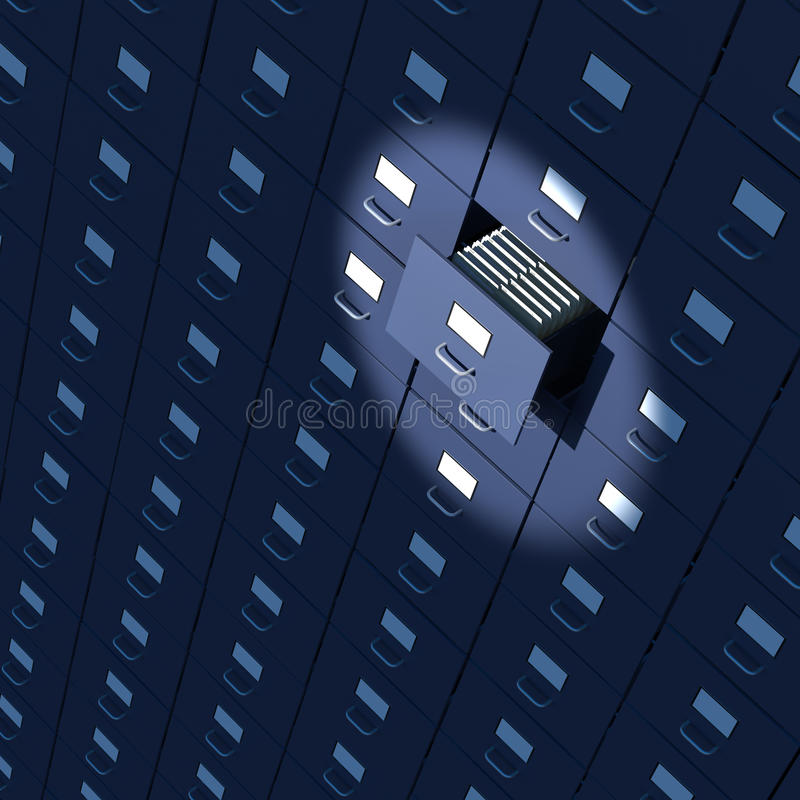 Download Spotlight On Endless Bureaucracy Of Archives Stock Photo - Image: 30870820