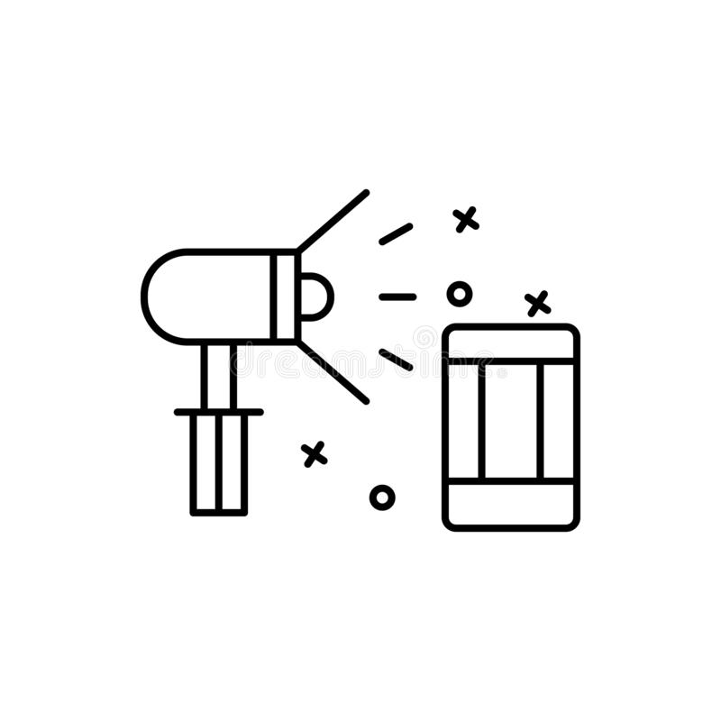 Spotlight, film, cinema icon. Element of film Industry icon. On white background vector illustration