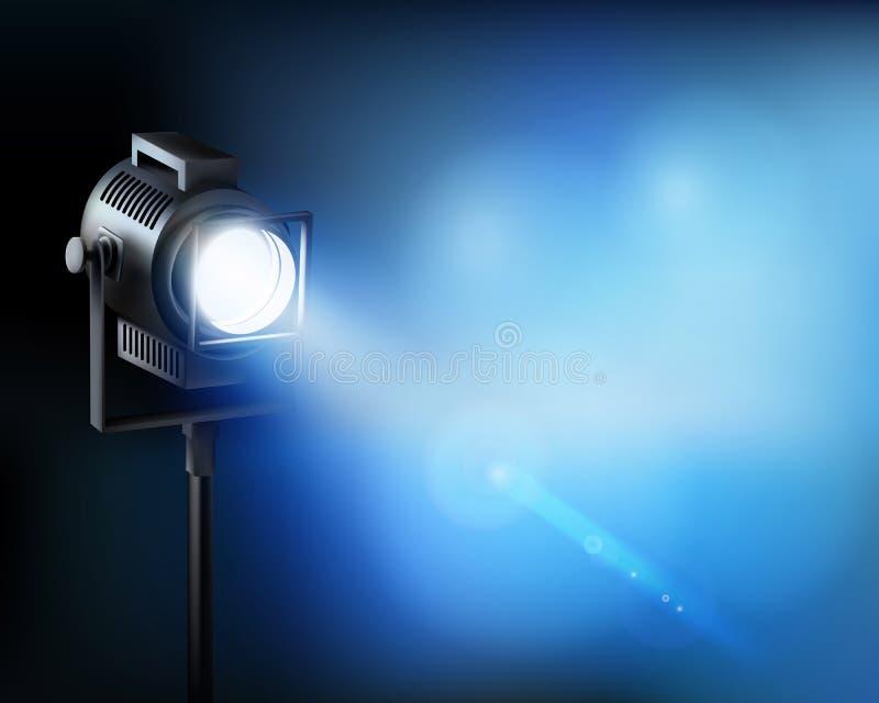 Spotlight from a film set