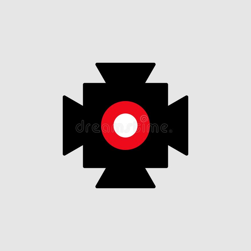 Spotlight icon. Element of Theatre icon for mobile concept and web apps. Detailed Spotlight icon can be used for web and mobile. On grey background vector illustration