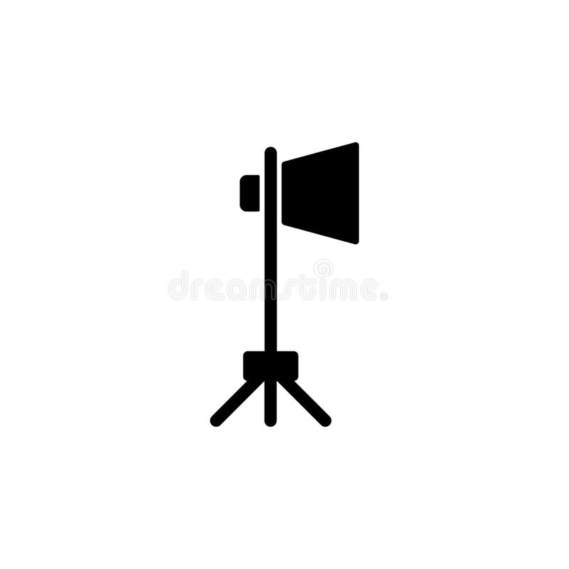 Spotlight icon. Simple glyph vector of cinema for UI and UX, website or mobile application stock illustration