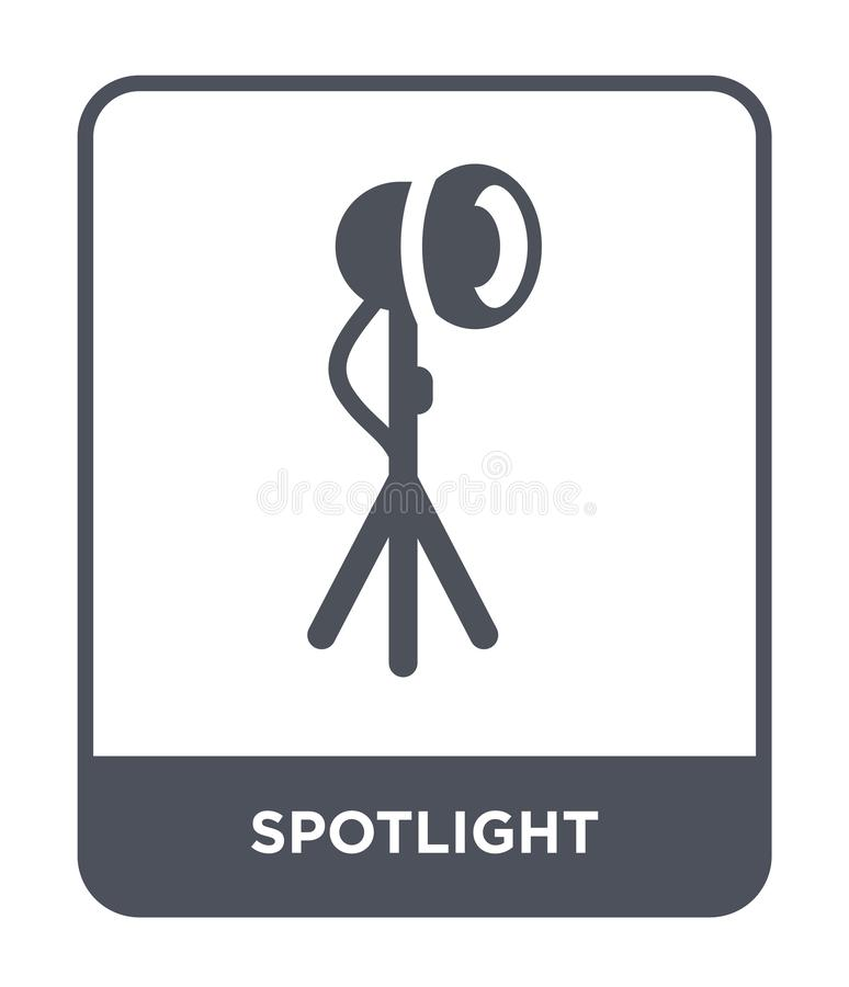 Spotlight icon in trendy design style. spotlight icon isolated on white background. spotlight vector icon simple and modern flat. Symbol for web site, mobile stock illustration