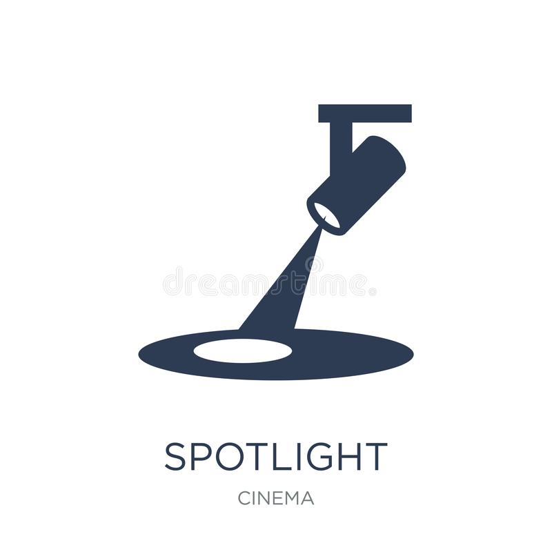 Spotlight icon. Trendy flat vector Spotlight icon on white background from Cinema collection royalty free illustration