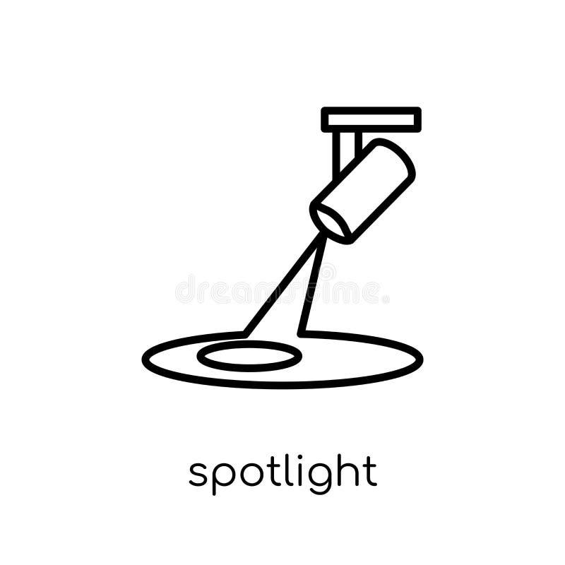 Spotlight icon. Trendy modern flat linear vector Spotlight icon royalty free illustration